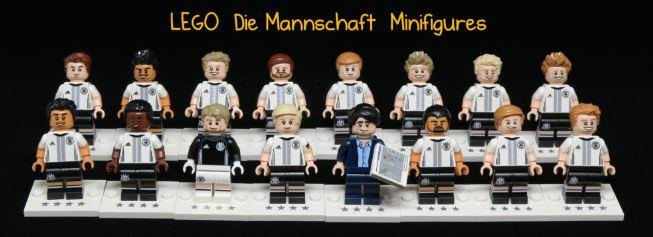 Lego 71014 German Football Team Minifigures (Complete set of 16)
