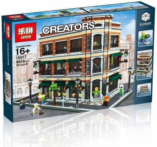 Lego Compatible Barnes Noble Starbucks Store 15017