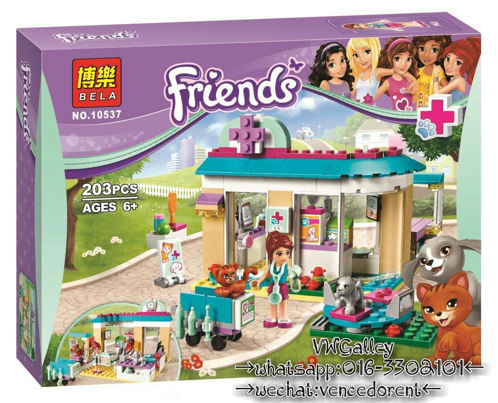 Lego Compatible Bela 10537 Friends Vet Clinic
