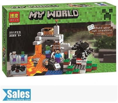 LEGO COMPATIBLE BELA MY WORLD MINECRAFT THE MINE 10174/5