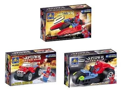 LEGO Compatible KAZI StarCraft SpiderMan Series(6004-6006)