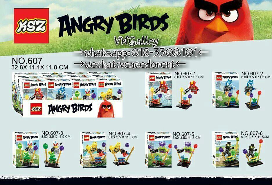 Lego Compatible KSZ607 Angry Bird Transformer Series