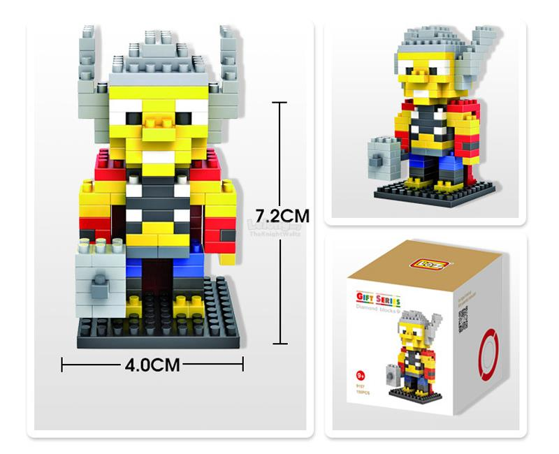 Lego Compatible Thor Marvel LOZ nanoblock Super Hero Action Figure