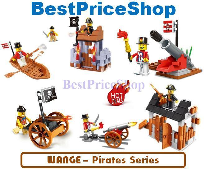 lego compatible wange pirate fighting series education brick games - Lego Pirate