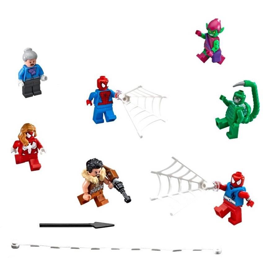 LEGO Marvel Super Heroes Spider Man Complete 7 Minifigure NEW 76057. U2039 U203a