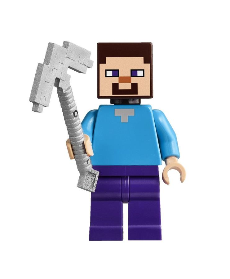 LEGO Minecraft STEVE With Pickaxe MInifigure NEW