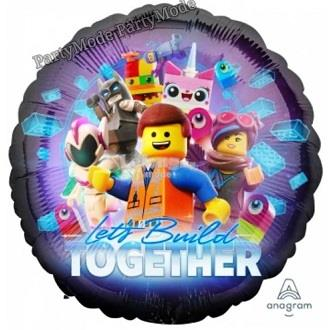 The LEGO Movie 2 Let's Build Together 17in Foil Balloon 39041
