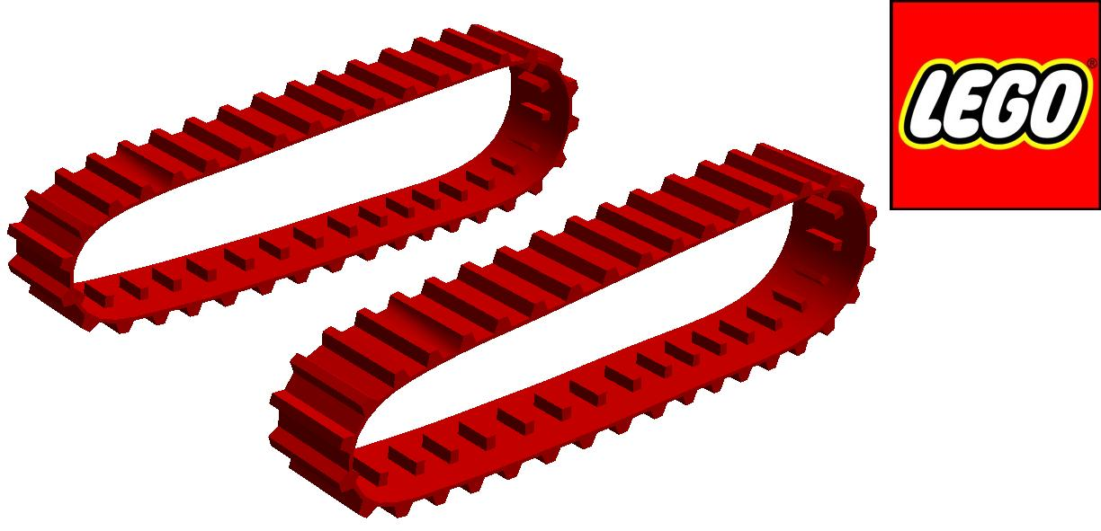 LEGO Red Caterpillar Track (36 Treads) [By WallE Grocery]