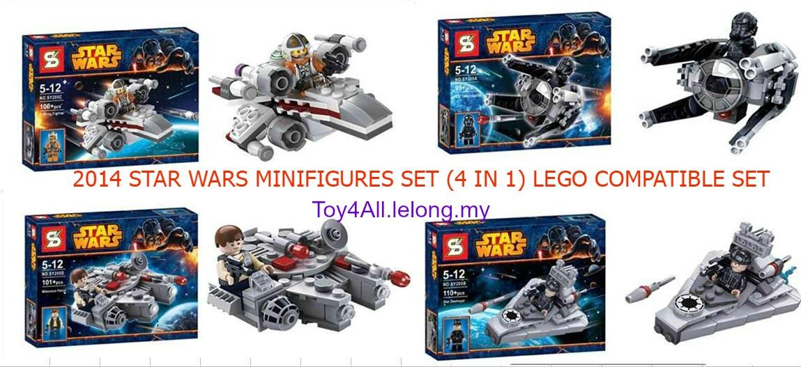 LEGO Star Wars Minifigures Special Set (4 IN 1) Compatible Brick