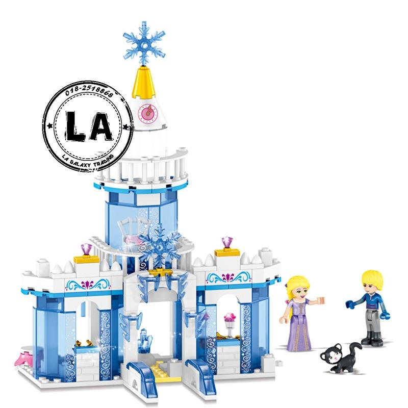 LELE 37026 Princess Elsa Anna Ice Castle Building Blocks (2 in 1 Set)