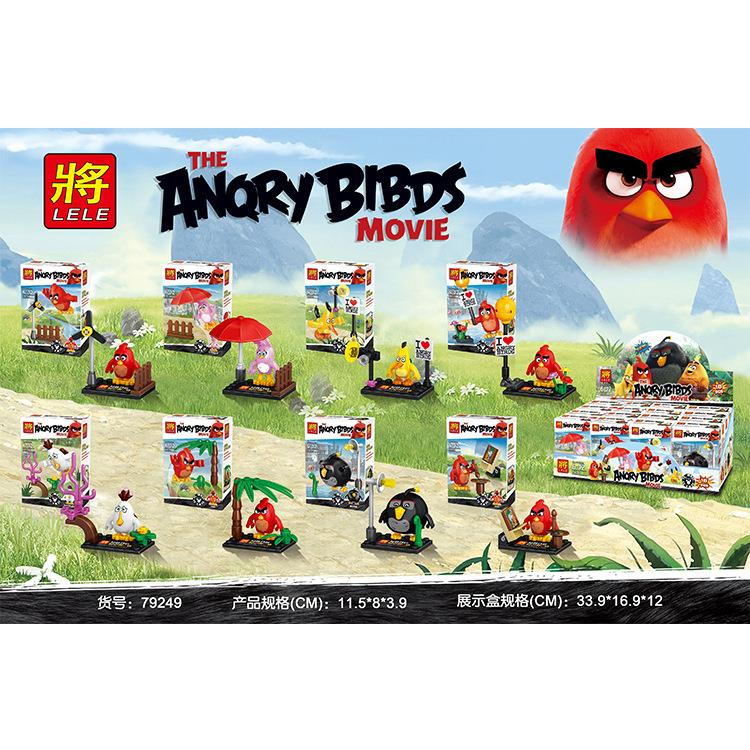 LELE79249 ANGRY BIRD 8 IN 1 set lego compatible minifigure