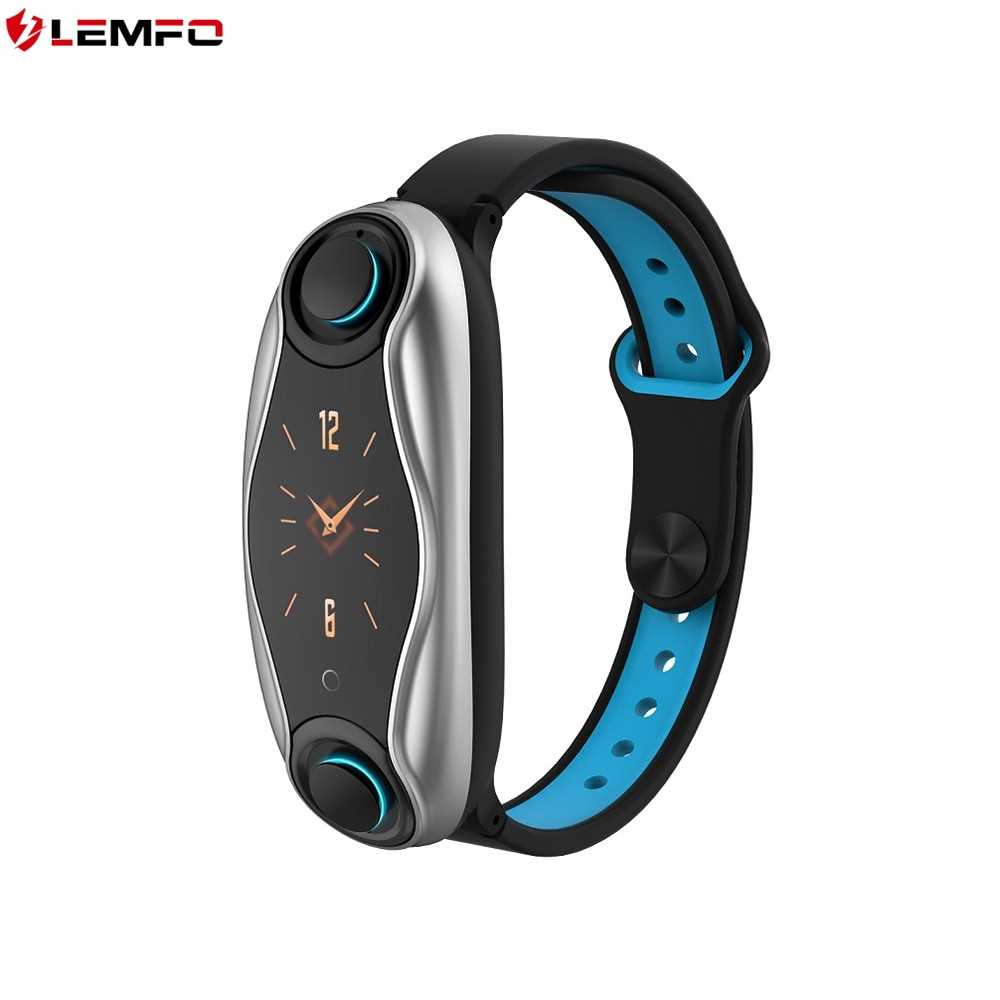 LEMFO LT04 Smart Bracelet with 2 Earpieces Fitness Tracker (Silver)