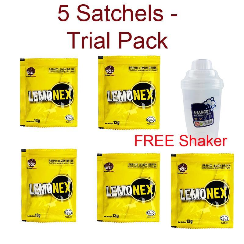 Lemonex Loose 5 Sachet Fat Burner (5 pcs trial pack) + Free Shaker