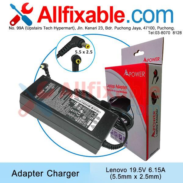 Lenovo 19.5V 6.15A/6.32A IdeaPad Y710 Y730 Adapter Charger