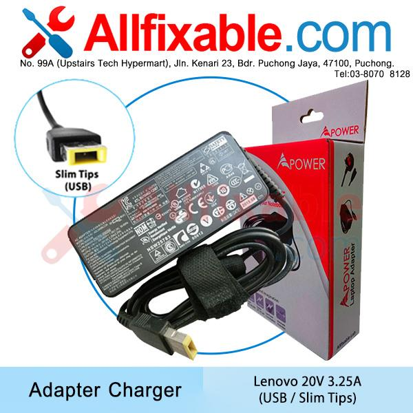 Lenovo 20v 3.25a ThinkPad T440 T440p T440s T450 T450s Adapter Charger