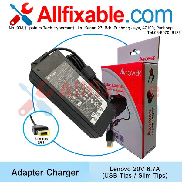 Lenovo 20V 6.75A Y50C Z51-70 IdeaPad 700-15ISK Y520  Adapter Charger