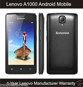 Lenovo A1000 Smartphone Dual Sim 8GB Black ORI Warranty