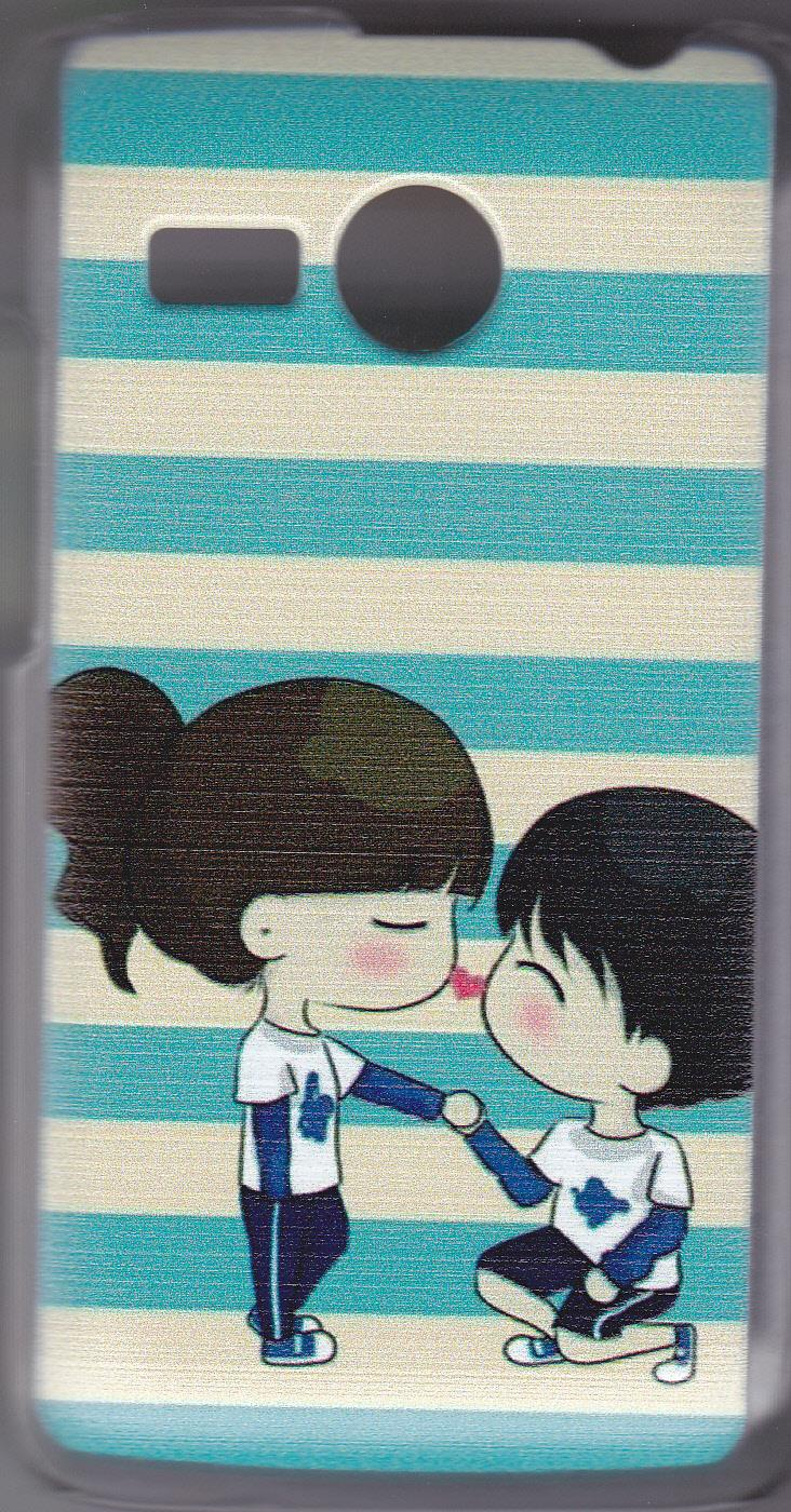 LENOVO A316 PICTURE HARD HANDPHONE CASE-COUPLE