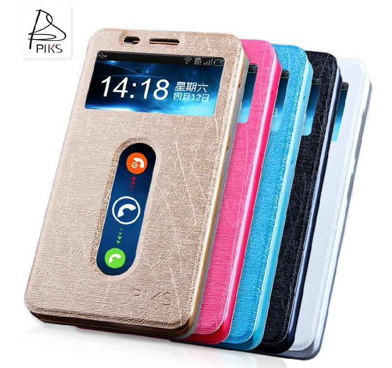 Lenovo A816 PU Leather Flip Case Cover Casing + Free Gifts