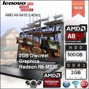 LENOVO G40-45 AMD A8-6410,2GB,500GB,2GB R5-M330 14' W10 NOTEBOOK