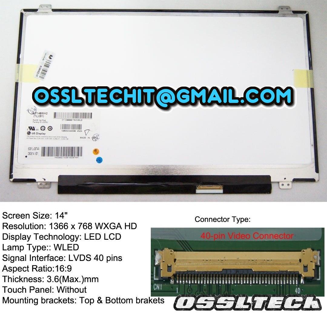 LENOVO Ideapad Y460p U460 T430 U460 S410P Laptop LED LCD Screen Panel
