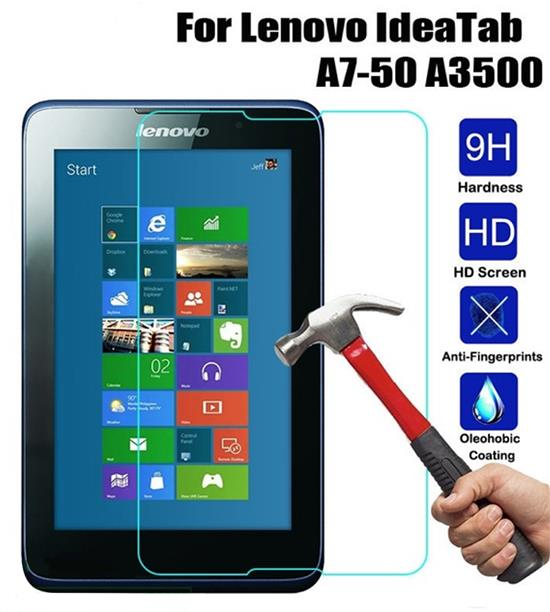 low priced 48338 2385b LENOVO IDEATAB A7-50 A3500 TABLET TEMPERED GLASS SCREEN PROTECTOR