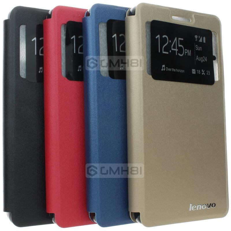 Lenovo K3 Note A7000 Plus S View Window Wallet Flip Cover Stand Case .