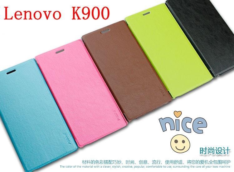 Lenovo K900 Elegant PU Leather Case Cover casing Free Screen Protector