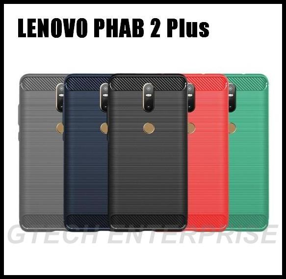 wholesale dealer 7c395 bd1e5 Lenovo PHAB 2 Plus PB2-670M N Shockproof Armor Carbon TPU Case Cover