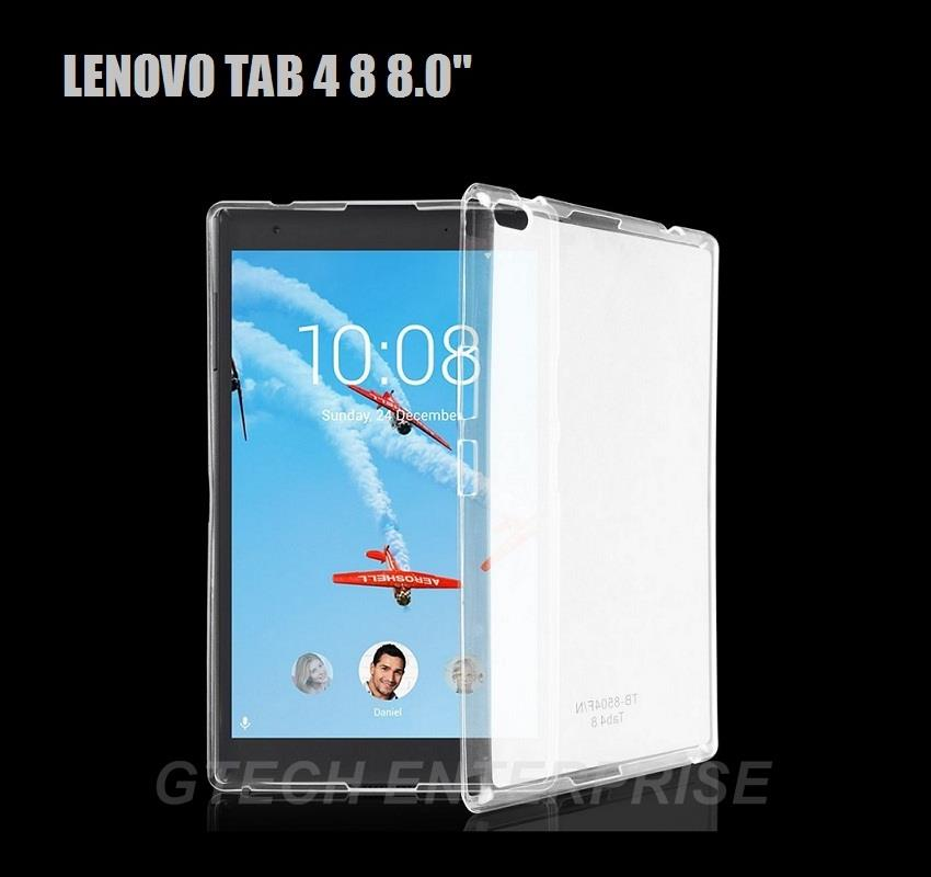 purchase cheap 0b7f0 70aaa Lenovo Tab4 Tab 4 8 8.0 LTE TB 8504X TPU Silicone Back Cover Case