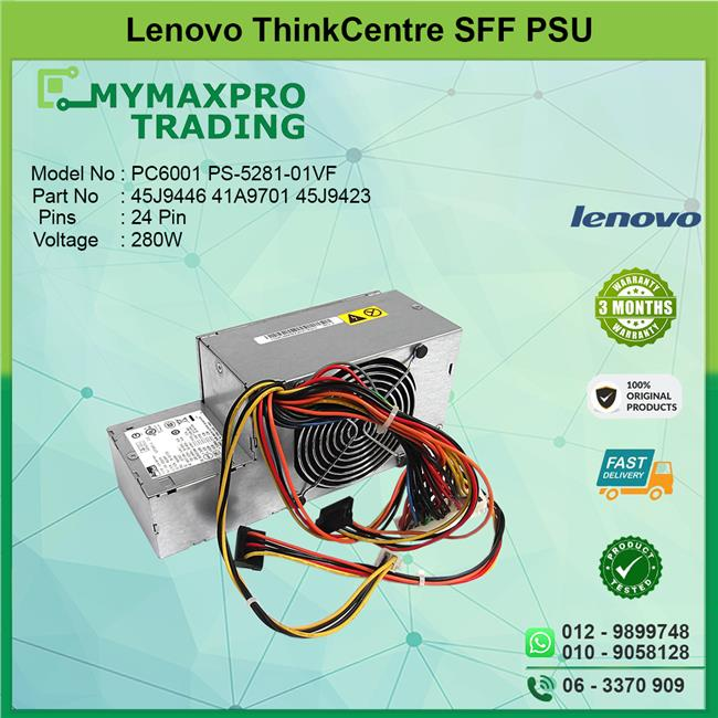 Lenovo Thinkcentre SFF 280W Power Supply 45J9446 41A9701 PS-5281-01VF