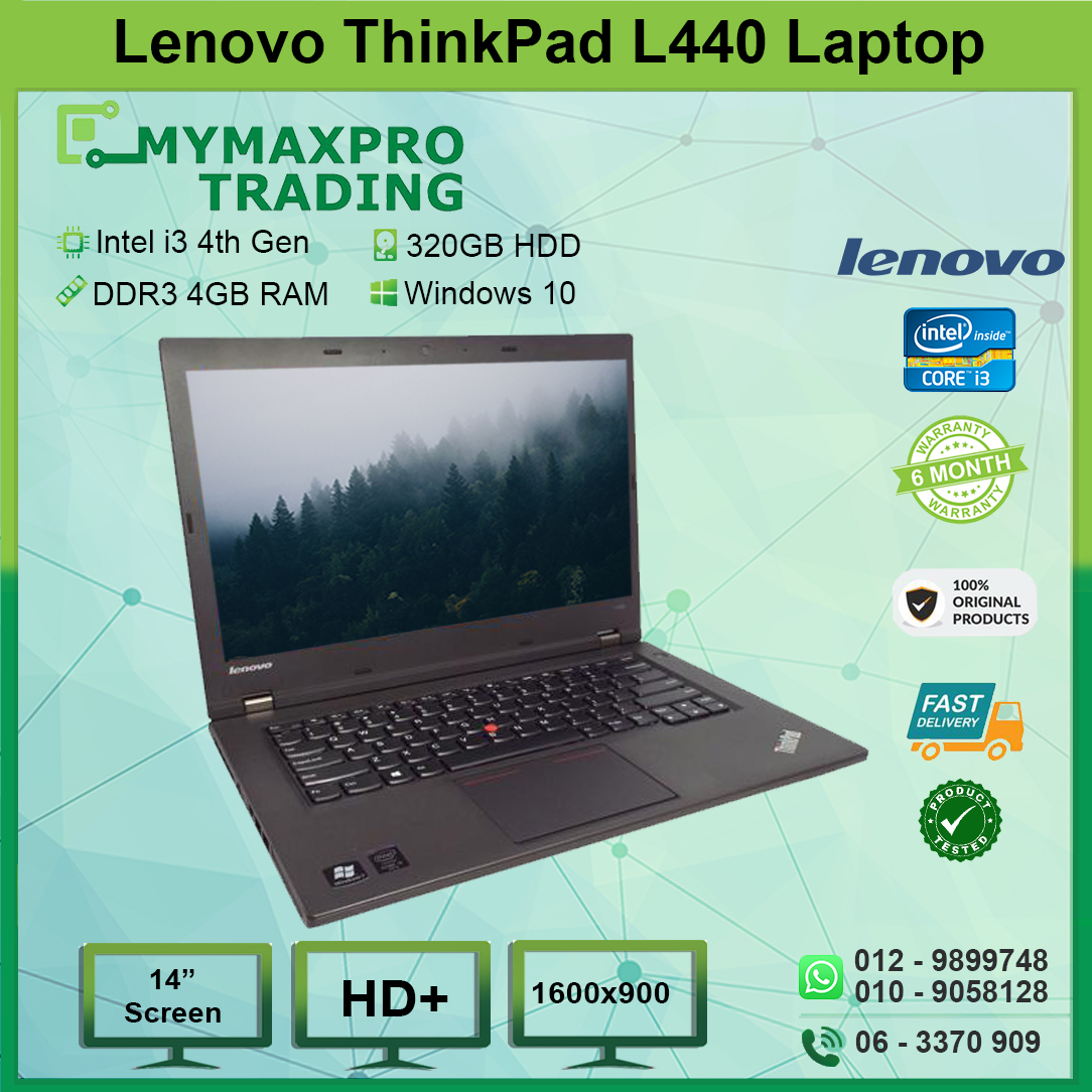 Lenovo ThinkPad L440 Intel i3 4th Gen 4GB RAM 320GB HDD Win 10