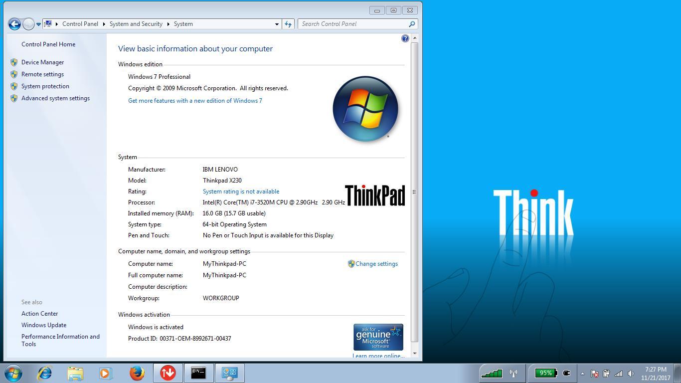 LENOVO ThinkPad X230 Backlit Keyboard 12 5' Business Notebook intel i7