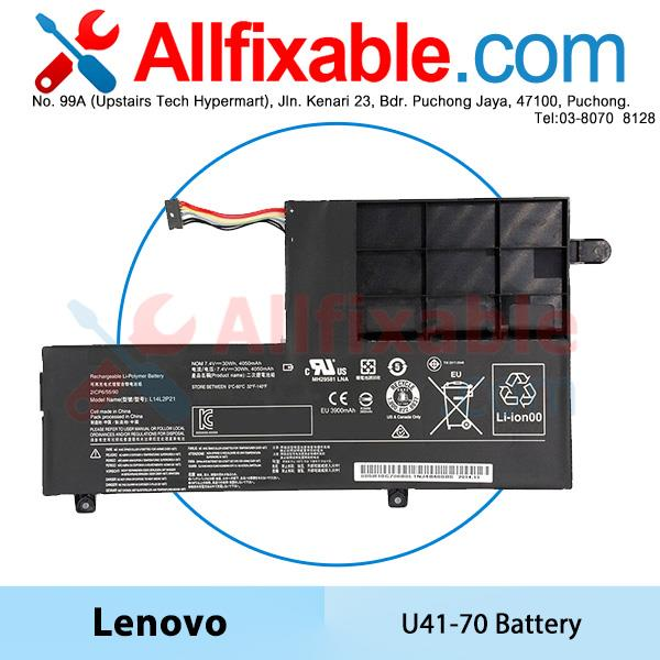 Lenovo U41-70, Flex 3-15, IdeaPad 510S-13IKB 510S-14ISK Battery