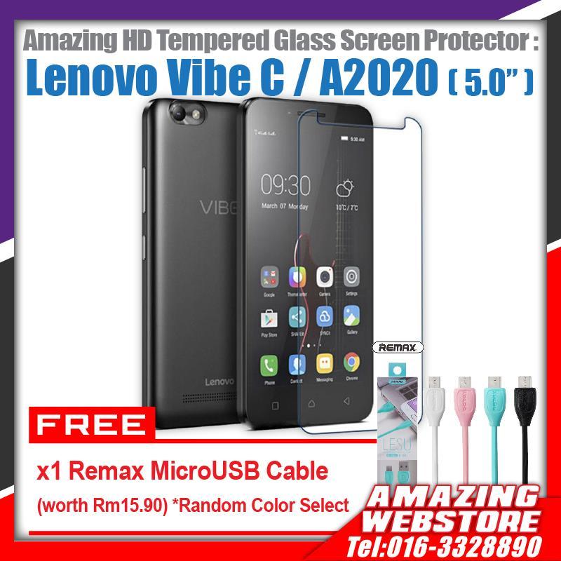 Lenovo Vibe C / A2020 HD Tempered Glass Screen Protector Combo1