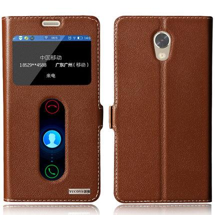 sports shoes 4c92b fe149 Lenovo Vibe P2 Cowhide flip Leather Case Casing Cover + Tempered glass