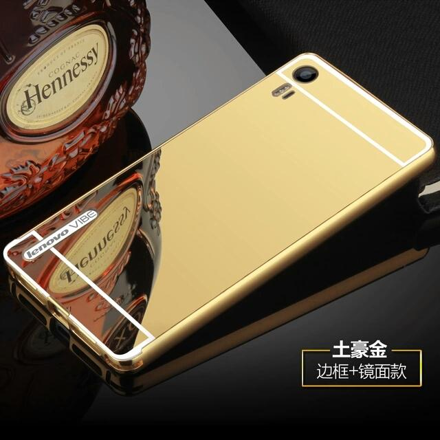 Lenovo vibe shot Z90 metal aluminium mirror cover case