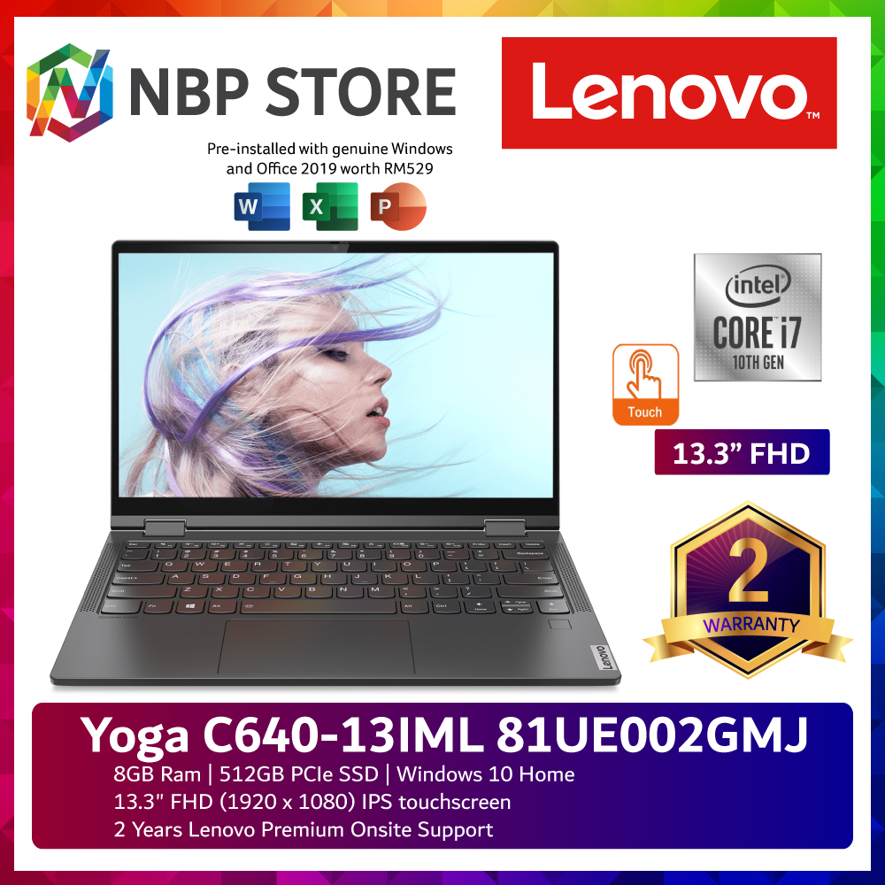 "Lenovo Yoga C640-13IML 81UE002GMJ 13.3 "" FHD Touch Laptop Grey"