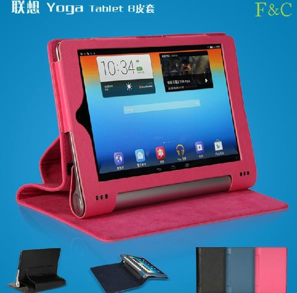 Lenovo Yoga Tablet B6000 8' Leather Flip Stand Case + FREE SP