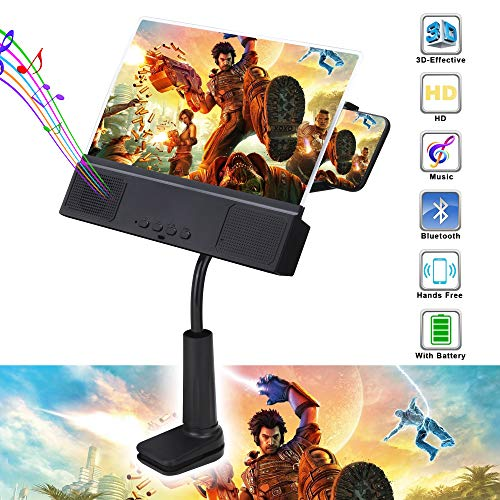 US. Leo Vision 3D Phone Screen Magnifier - 12-Inch Cellphone Projector with Bl