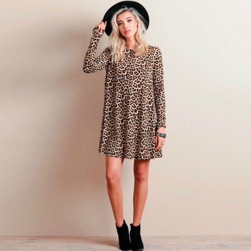 90df81abf2bd LEOPARD PRINT DRESS AS PICTURE (SIZE (end 9/4/2019 10:34 AM)