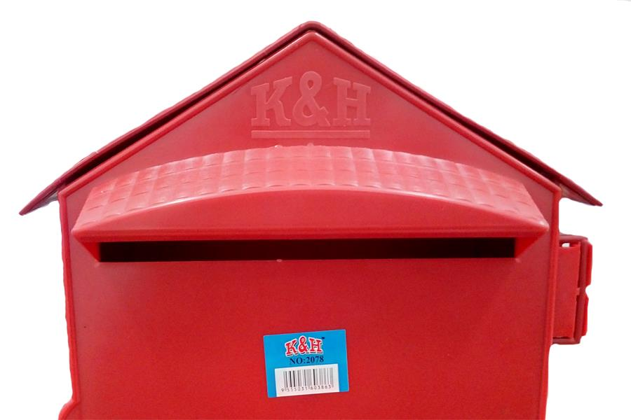 Astonishing Letter Box Pvc Mailbox Pos Red For Home Office School Download Free Architecture Designs Lectubocepmadebymaigaardcom