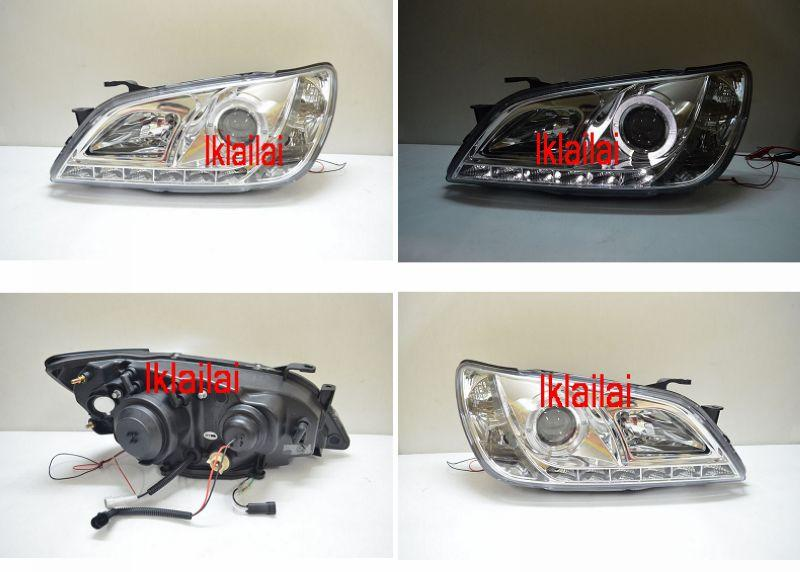 LEXUS ALTEZZA IS200 IS300 DRL Projector Head Lamp [Chrome Housing]