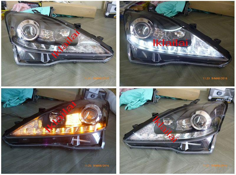 LEXUS IS250 PROJECTOR HEAD LAMP LED DRL R8