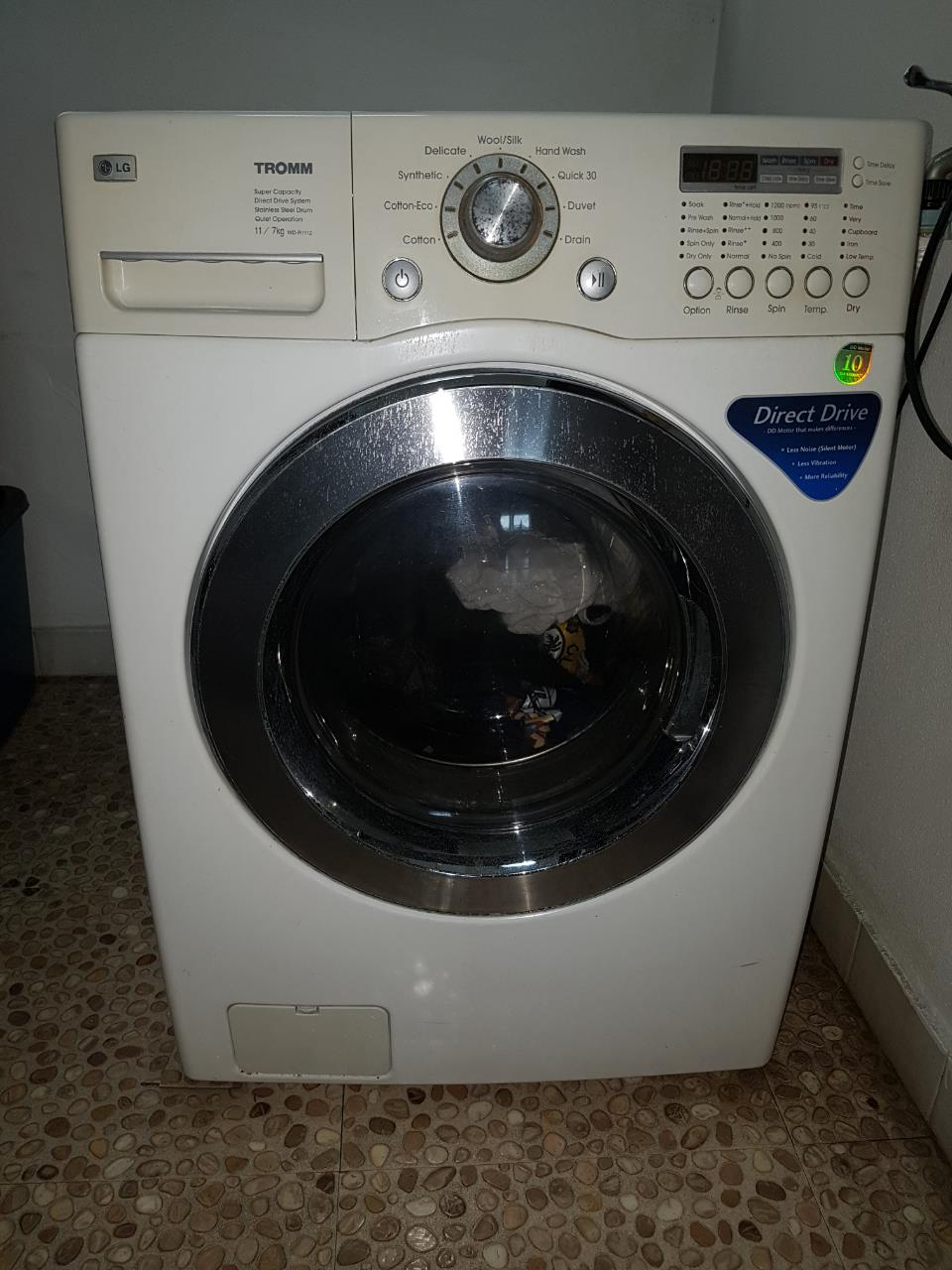 used lg 2in1 washing machine and dryer 11kg7kg