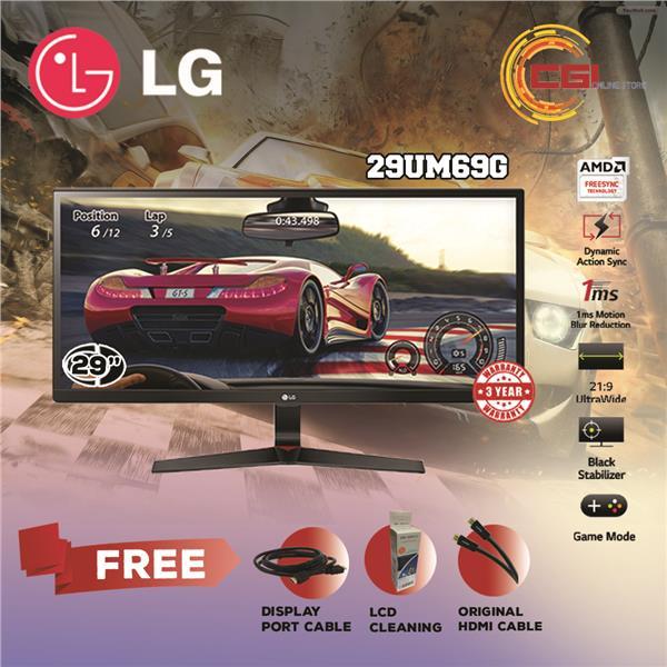 LG 29' 29UM69G UltraWide FHD IPS Gaming LED Monitor