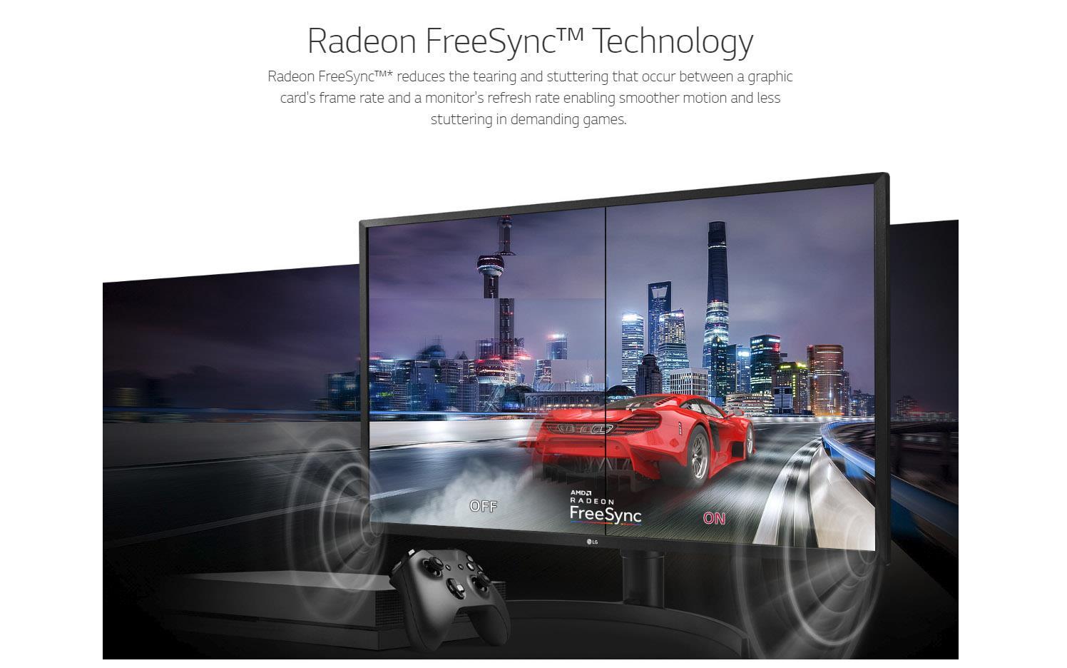 LG 32UK550-B 32' Class 4K UHD Monitor w Radeon FreeSync 3840x2160 60Hz