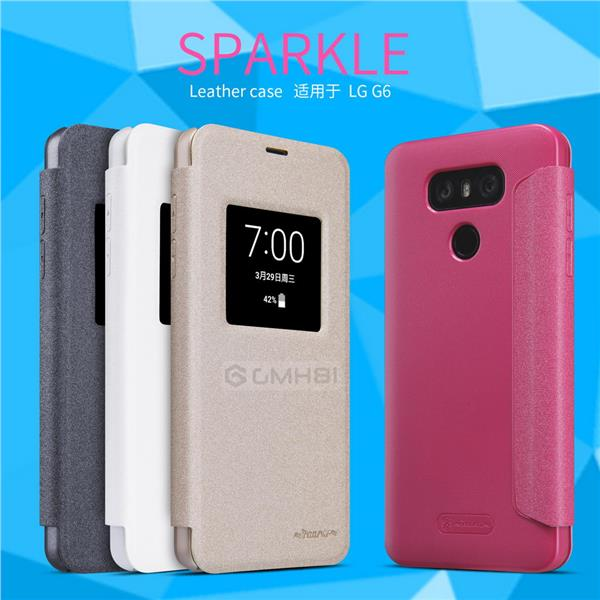 newest 7750b bd6d3 LG G6 Nillkin SPARKLE Ultra Slim Smart Cover Auto Sleep S-View Case