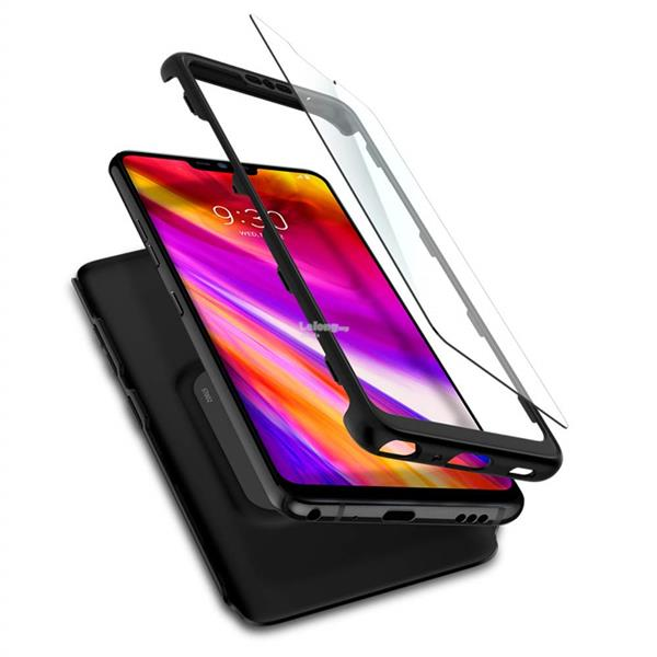online store 650fc c3f0c LG G7 - Spigen Thin Fit 360 & Tempered Glass Case
