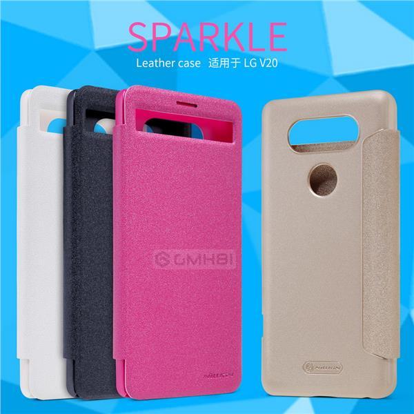 online store 94287 0c255 LG V20 Nillkin SPARKLE Ultra Slim Quick View Smart Cover Flip Case